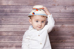 Romanian baby boy Royalty Free Stock Photography