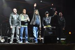Romanian band IRIS. Photo from concert held on 16 november 2008 at Izvor park, Bucharest, Romania Stock Photo