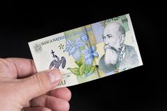 A romanian banknote Royalty Free Stock Image
