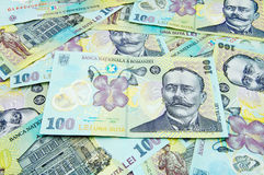 Romanian banknotes Royalty Free Stock Photo