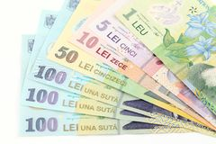 Romanian banknotes Stock Photography