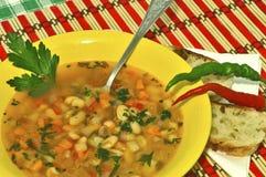 Romanian beans soup. Ciorba de fasole. Royalty Free Stock Photos