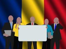 romanian biznesowa drużyna royalty ilustracja