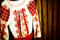 The Romanian blouse Royalty Free Stock Photography