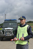 Romanian  border police officer Royalty Free Stock Images