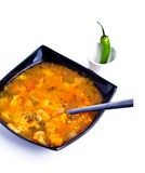 Romanian borsch. Made with 7 different vegetables royalty free stock photography