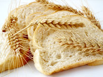 Romanian bread and wheat details Royalty Free Stock Photo