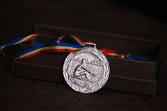 Romanian bronze medal rowing Stock Photo