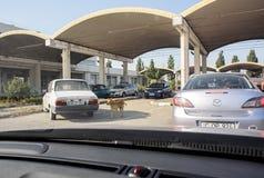 Romanian Bulgarian border customs control Royalty Free Stock Photography