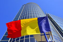 Romanian business center Royalty Free Stock Photo