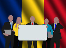 Romanian business team royalty free illustration