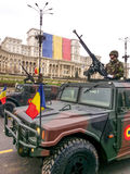 Romanian camouflage humvee Stock Images