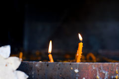 Romanian candles for dead or alive Stock Image