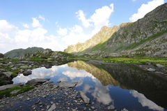 Romanian Carpathians: Fagaras mountains landscape Stock Photo