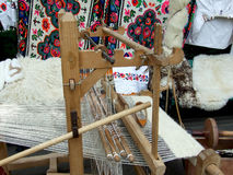 Romanian carpet loom Royalty Free Stock Images