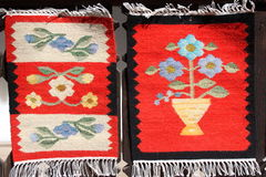 Romanian carpets. Romanian traditional carpets and rugs Royalty Free Stock Photos
