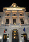 Romanian Central Bank, Bucharest, by night Stock Photos