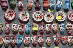 Romanian Ceramic fridge magnets Stock Photo