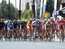 Romanian champions cycling tour Royalty Free Stock Photography