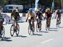 Romanian champions cycling tour Stock Photo