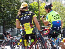 Romanian champions cycling tour Royalty Free Stock Image