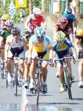 Romanian champions cycling tour Stock Image