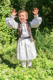 Romanian Child Dressed In A Traditional Costume Royalty Free Stock Images