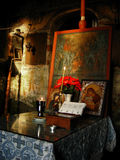 Romanian Church. Image from romanian church, altar, icons and candlelight Stock Images
