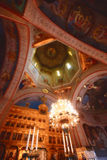 Romanian church interior Royalty Free Stock Photos