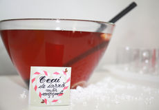 Romanian cinnamon tea winter. Candybar sweets. Stock Photos