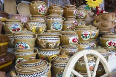Romanian clay pot from Horezu Stock Photography