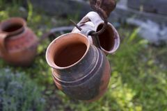 Romanian clay pot from Horezu Stock Photos