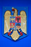 Romanian Coat of Arms. Detail of Romanian Coat of Arms Stock Photo