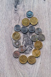 Romanian coins Stock Image