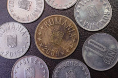 Romanian coins. Money. Currency Stock Photo