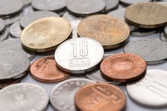 Romanian coins, Romanian currency Royalty Free Stock Images