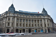 Romanian Comercial Bank Banca Comerciala Romana. Bucharest, Romania. February 3, 2017. Headquarters of The Romanian Comercial Bank Banca Comerciala Romana Stock Images