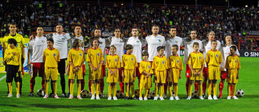 Romanian contra Albânia Fotos de Stock