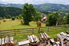 Romanian country landscape Royalty Free Stock Image