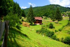 Romanian country landscape Royalty Free Stock Photo