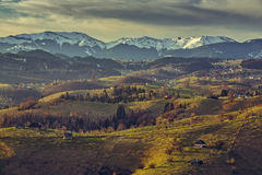 Romanian countryside landscape Royalty Free Stock Image