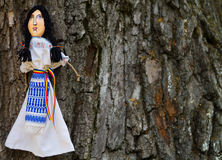 Romanian craftsmanship. Handmade dolls for sale in traditional festival Stock Images