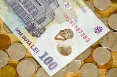 Romanian Currency Stock Photography