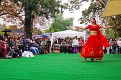 Romanian dancer performing an indian dance Stock Photography