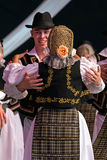 Romanian dancers in traditional costume Royalty Free Stock Image