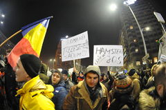 Romanian democracy protest Royalty Free Stock Photography
