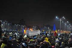 Romanian democracy protest Stock Photos