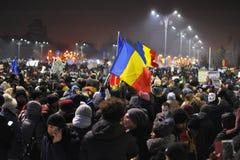 Romanian democracy protest Stock Photo