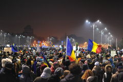 Romanian democracy protest Royalty Free Stock Photos