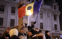 Romanian Demonstrators Stock Photos